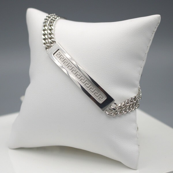 Herrenarmband JS10918 - 925 Silber - zweireihig