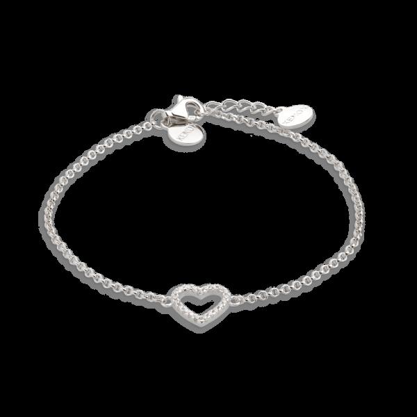XENOX Armband silber mit Herzsymbol und Zirkonia XS2784
