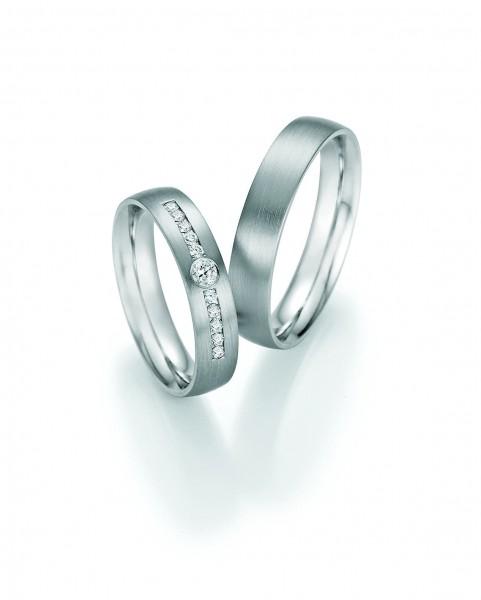 "Collection Ruesch Trauringe ""Honeymoon Solid IX"" 66-60010-045+66-60020-045"