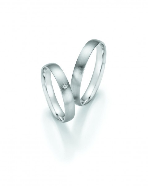 "Collection Ruesch Trauringe ""Honeymoon Pure VI"" 66-61050-35+66-61060-35"