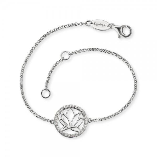 Engelsrufer silbernes Damenarmband mit Zirkoniasteinen ERB-LOTUS-ZI - 925 Silber