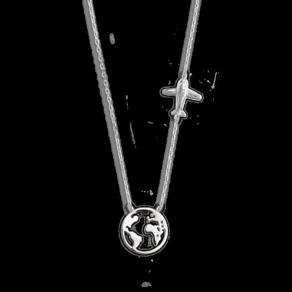 "XENOX Collier silber ""Weltkugel - Wanderlust Kollektion"" XS3161"