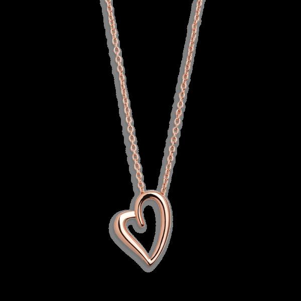 """XENOX Collier rosé mit Herzsymbol """"Love Story"""" XS2796R"""