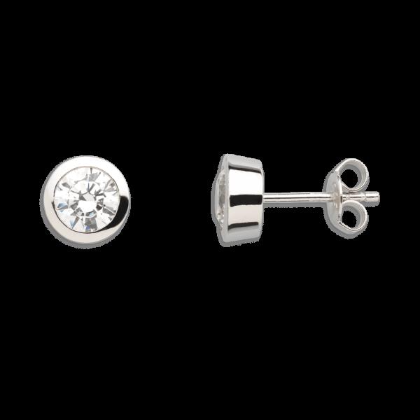 """XENOX Ohrstecker silber """"Silver Circle Z Kollektion"""" mit Zirkonia XS7157"""